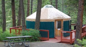 This Idaho Park Has A Yurt Village That's Absolutely To Die For