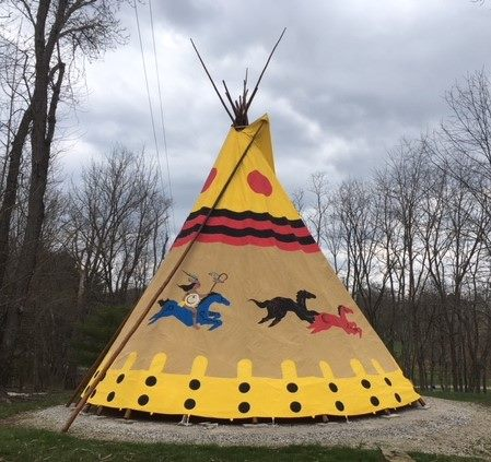 Tepee Camping In Ohio At Boulders Edge Cabin And Tipi Retreat
