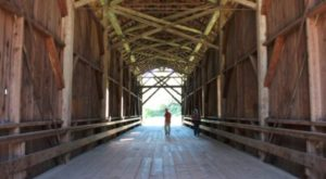 Crossing The Tallest Covered Bridge In The U.S. Is Like A Step Back In Time
