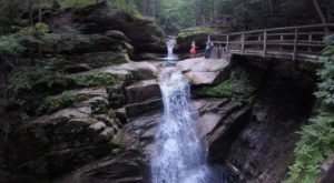 Your Kids Will Love This Easy Quarter-Mile Waterfall Hike Right Here In New Hampshire