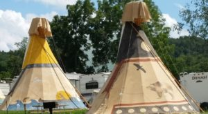 Spend The Night Under A Tepee At This Unique Campground Near Pittsburgh