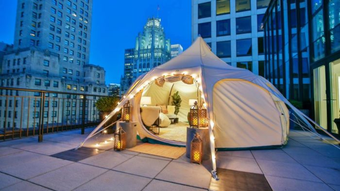 A Night At This Rooftop Glampground Will Leave You In Awe