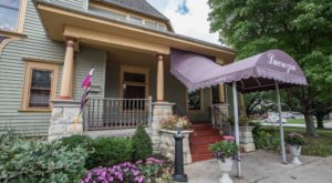 Few Hoosiers Know This Old House In Indiana Is A Restaurant With Old-Fashioned Porch Seating