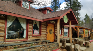 The Rustic Log Cabin Restaurant That Is Nestled In The Heart Of The Southern California Mountains