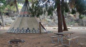 Spend The Night Under A TeePee At This Unique Southern California Campground
