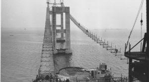 8 Rare Photos Taken During The Newport Bridge Construction That Will Simply Astound You