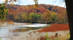 Take A Trip Down This Oklahoma River That Comes Alive With Fall Colors