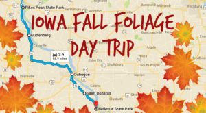 This 2-Hour Drive Through Iowa Is The Best Way To See This Year's Fall Colors