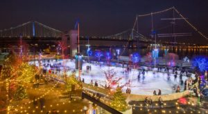 Glide Across The Largest Ice Skating Rink In Pennsylvania For An Unforgettable Outdoor Adventure