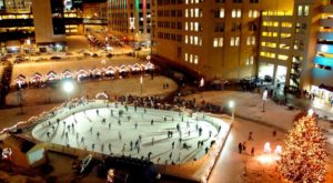 Glide Across The Largest Ice Skating Rink In Ohio For An Unforgettable Outdoor Adventure