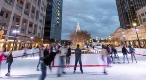 Glide Across The Largest Ice Skating Rink In Georgia For An Unforgettable Outdoor Adventure