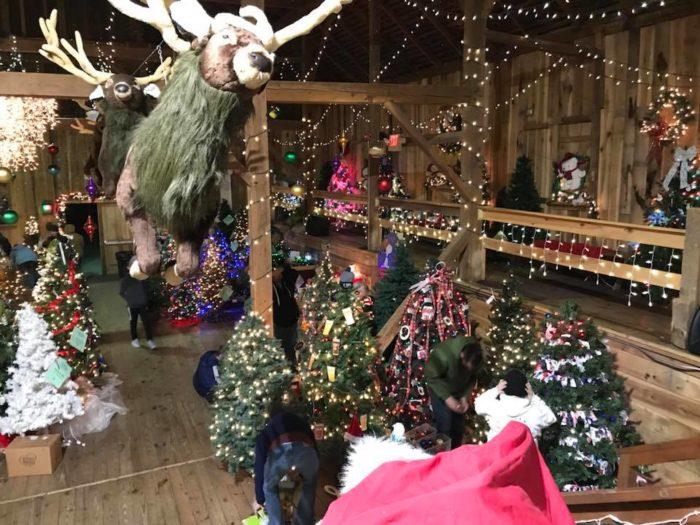 Visit This Christmas Barn At The Barn At Springfield Farm