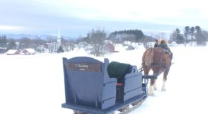 Take An Entrancing Horse-Drawn Sleigh Ride Through The Vermont Countryside This Winter