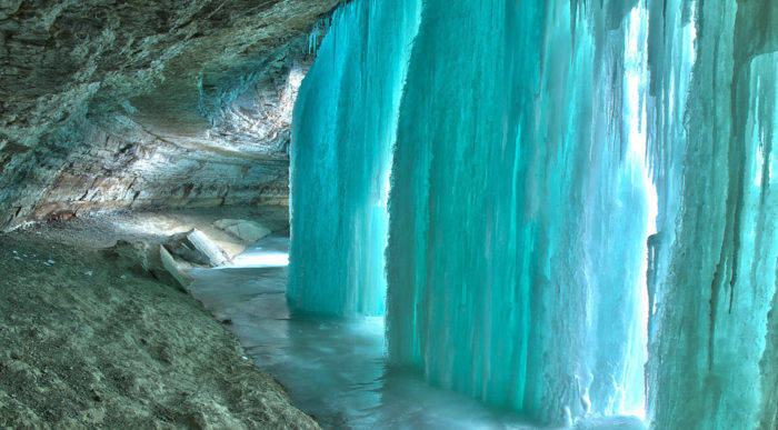 The Enchanting Frozen Waterfall You Simply Must See Before It Melts Away