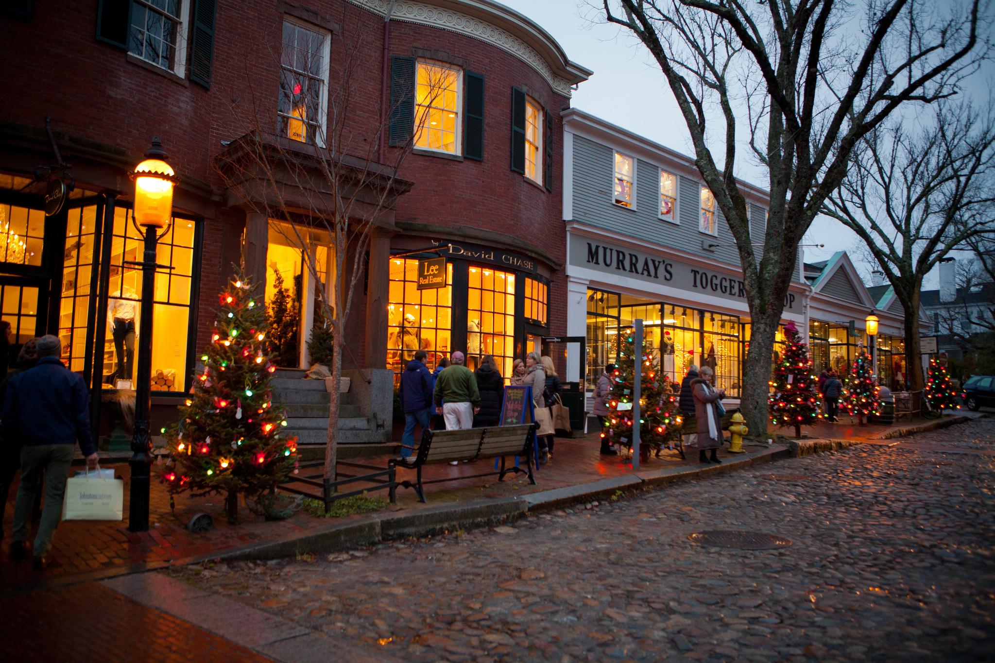 The Christmas Stroll On Nantucket, Massachusetts Is