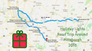 Everyone Should Take This Spectacular Holiday Trail Of Lights In Pittsburgh This Season