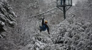 The Longest And Highest Zipline In Missouri Gives You A Breathtaking View Of The Winter Landscape