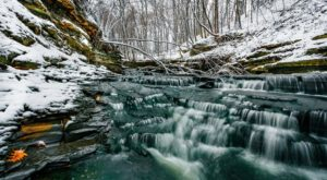There's A Beautiful Waterfall Just Waiting To Be Discovered In This Cleveland Cemetery
