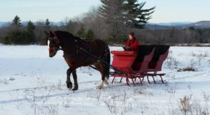 This 30-Minute Maine Sleigh Ride Takes You Through A Winter Wonderland