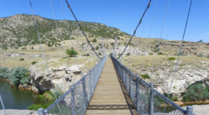 The Stomach-Dropping Suspended Bridge Walk You Can Only Find In Wyoming