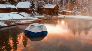 Watching Snow Fall From This One Hot Spring Resort In Idaho Is Basically Heaven