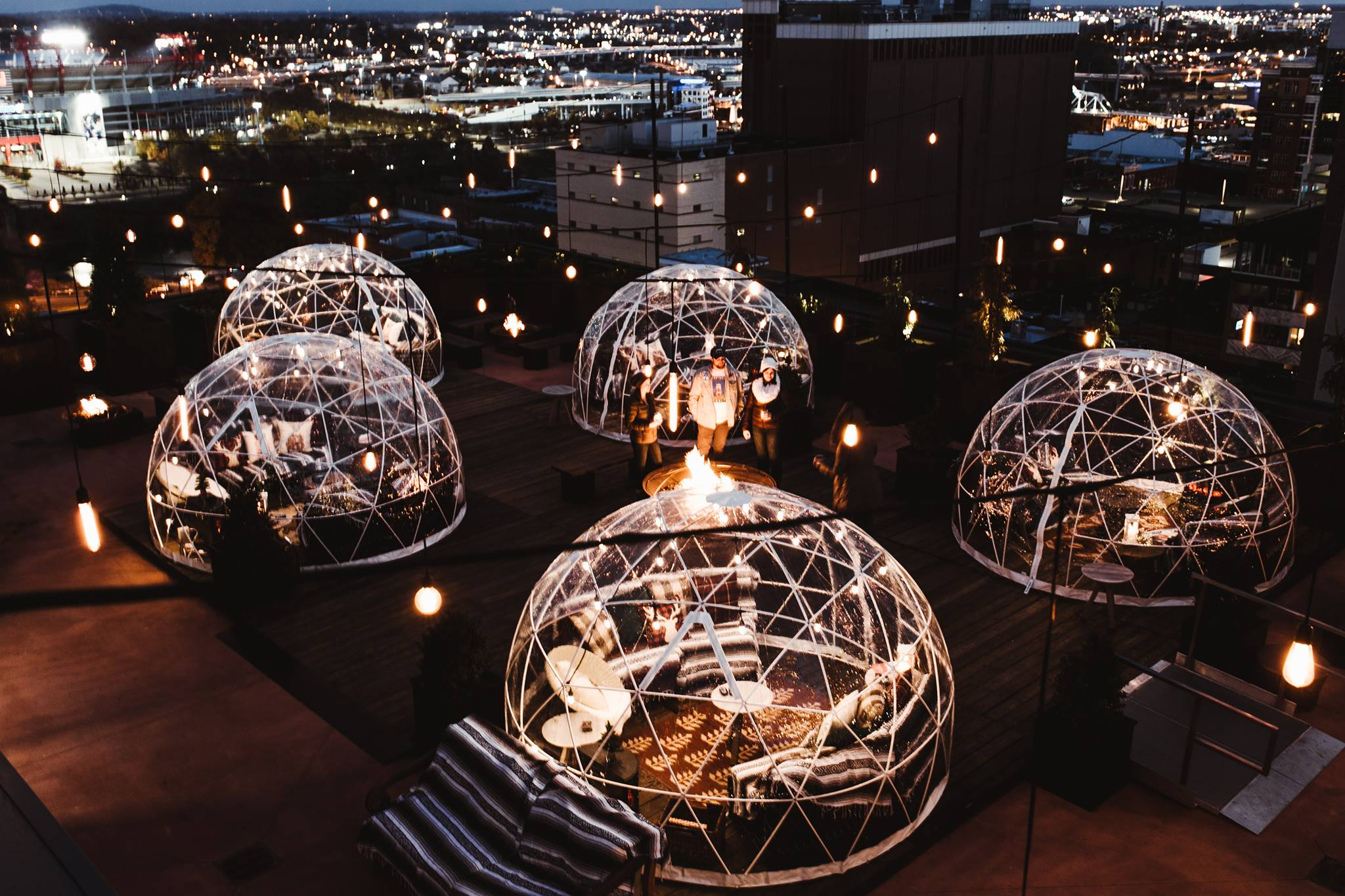 The Bobby Hotel In Tennessee Has Rooftop Igloos You Can