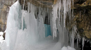 A Trip Inside Maine's Frozen Caves Is Positively Surreal