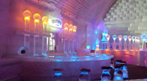 This Beautiful Bar In Alaska Is Made Of Over 1,000 Tons Of Crystal Clear Ice