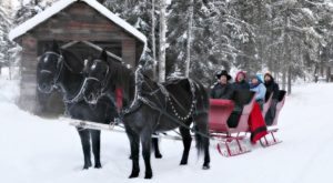 This 45-Minute Montana Sleigh Ride Takes You Through A Winter Wonderland