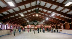 The Most Enchanting Ice Rink In Northern California Is Actually Hiding In A Barn