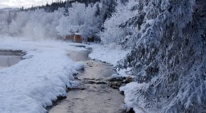 Watching Snow Fall From This One Hot Spring Resort In Alaska Is Basically Heaven