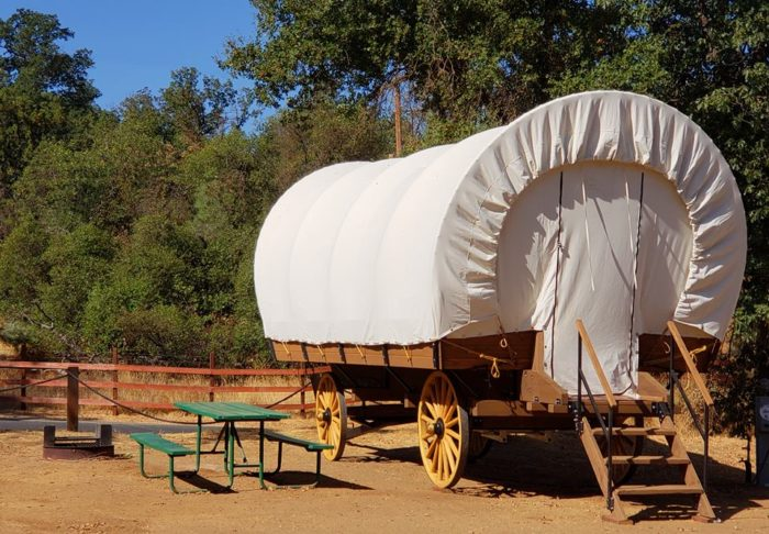 Spend The Night At This Covered Wagon Campsite In Northern ...