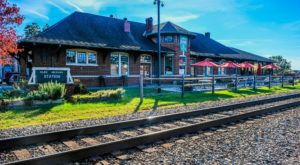 This Historic North Carolina Train Depot Is Now A Beautiful Restaurant Right On The Tracks