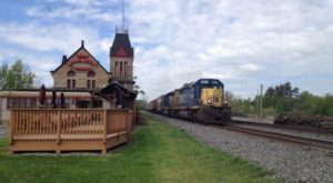 This Historic Ohio Train Depot Is Now A Beautiful Restaurant Right On The Tracks