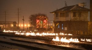 Chicagoans Just Intentionally Set Their Train Tracks On Fire And Here's Why