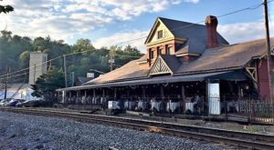 This Historic Maryland Train Depot Is Now A Beautiful Restaurant Right On The Tracks