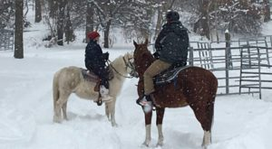 Experience Winter Magic On This One-Hour Horseback Ride Through The Rhode Island Woods