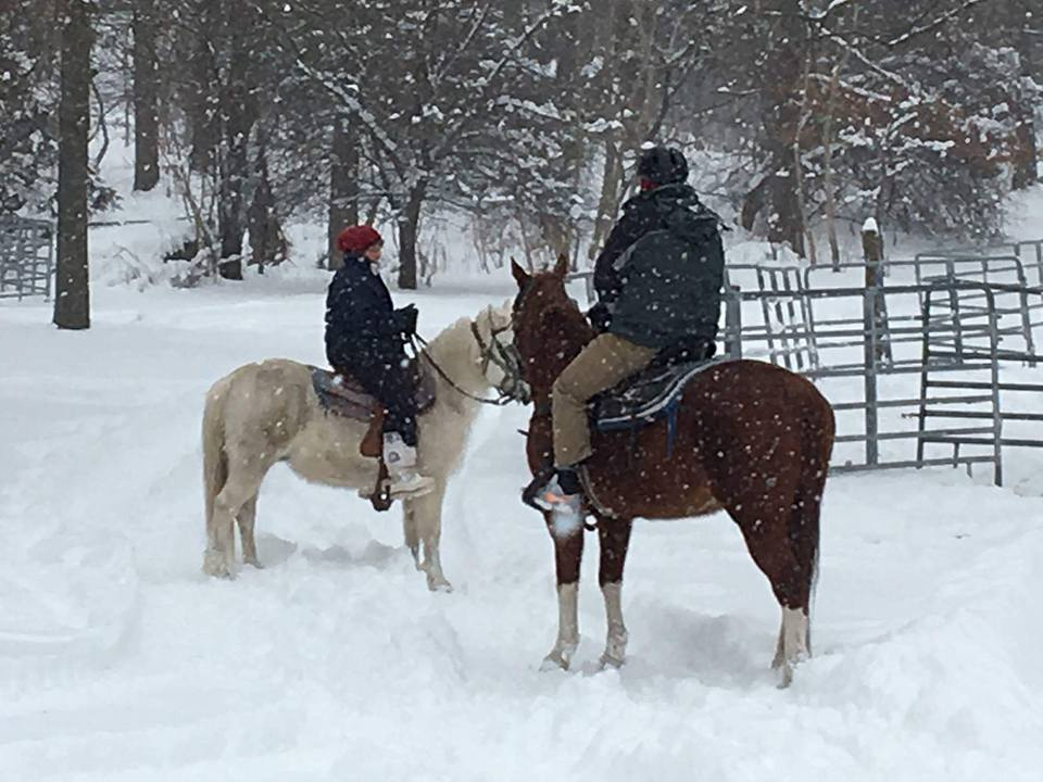 Experience A Winter Horseback Ride At Sunset Stables In