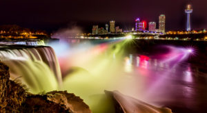 You Need To See This Dazzling Waterfall Light Show In New York At Least Once In Your Life