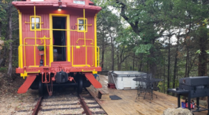 The Rooms At This Railroad-Themed Cabin In Arkansas Are Actual Box Cars