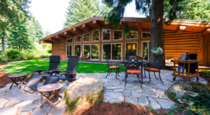 Enjoy Your Own Private Waterfall At This Secluded Cabin Getaway Near Oregon