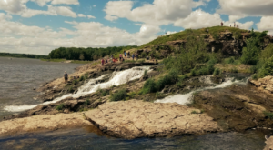 This Iowa Lake And Waterfall Will Be Your New Favorite Paradise
