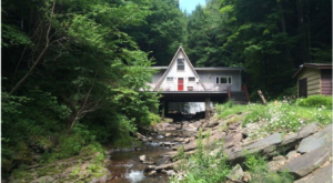 Enjoy Your Own Private Waterfall At This Secluded Cabin Getaway In New York