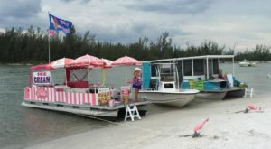 The Only Island In Florida With An Ice Cream Boat & Taco Boat Docked Every Day