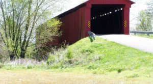 Dine On A Covered Bridge Built In 1880 With This One Of A Kind Indiana Experience