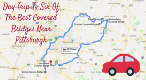 This Day Trip Takes You To 6 Of Pittsburgh's Covered Bridges And It's Perfect For A Scenic Drive