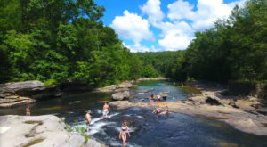 This West Virginia Beach And Waterfall Will Be Your New Favorite Paradise