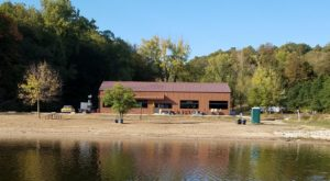 Enjoy Your Meal On The Beach At This Charming Lakefront Restaurant In Iowa