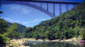 Travel 800 Feet To The Bottom Of The New River Gorge On This Scenic West Virginia Road