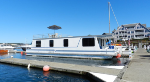 Spend The Night On The Water In This Wonderfully Cool Houseboat In Maine